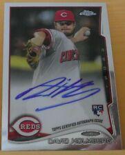 2014 Topps Chrome David Holmberg Rookie Autograph Cincinnati Reds #134