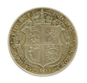 1916 George V Silver Half Crown Coin #13