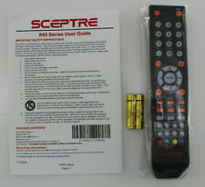 Sceptre Remote with X43 Series User Guide X435BV-FSRC