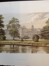 K2-1 1880s Book Plate Picture 6x4 Inches Wilton House River View