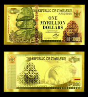 "★★★ ZIMBABWE : BILLET POLYMER  "" OR "" DU 1 MYRILLION DOLLARS  ★★"