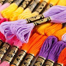 Bordado de hilo de punto de arte abigarrada 24 Hilos De Colores Madejas mejor Brillante UK