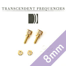 GOLD PLATED BRASS THUMB Screws 8mm Cartridge Headshell Mounting Set Ortofon 2M