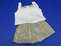 """Doll Clothes 18/"""" Shorts Stripes Pastel Top Fits American Girl Dolls"""