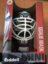 Brand New Riddell Mini NHL Anaheim Mighty Duck Goalie Hockey Mask