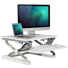 "Sit Standing Height Adjustable desk ergo Riser ADR for monitor  35"" Wide, White"