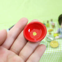 1/12 Dollhouse Miniature Accessories Vintage Soup Pot Bowl Plate Furniture Toys