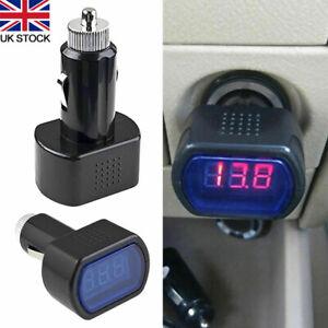 24V Car Boat UK Voltmeter Voltage Battery Monitor LED-Display Indicator 12V