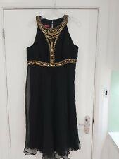 Ladies Monsoon Black Dress Size 18