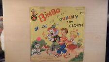 "RARE Cricket Records BIMBO & PUNCHY THE CLOWN 10"" 78RPM 1953"