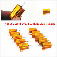 10pcs Car Load Resistor 25W 8-Ohm Fix LED Bulbs Fast Flash Turn Signal Blinker