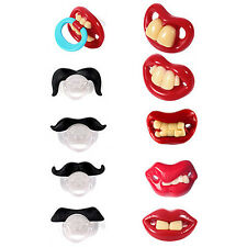 Teeth Mustache Baby Pacifier