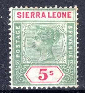 Sierra Leone QV 5/- SG52 1896-7 lmmint  [S2021]