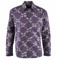 "DOLCE & GABBANA Cotton Shirt with ""Birds"" Print Brown 03727"