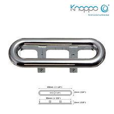 KNOPPO® Waschbecken Design Überlaufblende oval / Overflow Cover - Pool 1 (chrom)