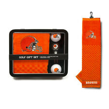 Cleveland Browns Golf Gift Set [NEW] MLB Towel Ball Divot Bag Golfing Tin