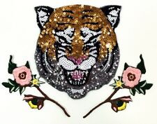 Tiger patch/Sequins Patch/Flower patch/Embroidered patch/Sew on patch/applique