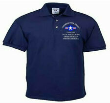 145TH AIRLIFT WING*CHARLOTTE IAP*NC*USAF ANG*EMBROIDERED LIGHTWEIGHT POLO SHIRT