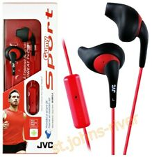 JVC STEREO HEADSET IN EAR WITH MIC MICROPHONE - NEW GUMY SPORT HA-ENR15-B