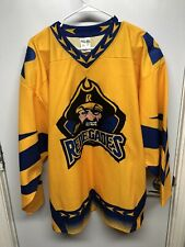 Richmond Renegades SPHL Hockey Jersey Size Large, Athletic Knit, Gold, Signed