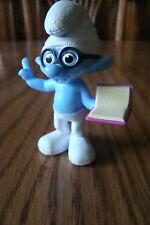 2013 BRAINY Smurf McDonald's Happy Meal Toy Smurf 2 Movie Toy #5 CAKE TOPPER