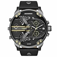 Diesel DZ7348 Mr. Daddy 2.0 Black Dial Black Leather Men's Watch