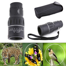 HD 16x52 HD Optical Monocular Hunting Camping Hiking Telescope with Bag + Strap