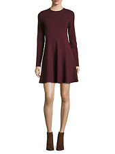 NWT Theory Tillora Long Sleeve Fit & Flare Dress, RED, sz 10, MSRP $315