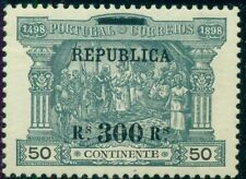PORTUGAL #197 300r on 50r Vasco de Gama, surcharged and overprinted in black LH