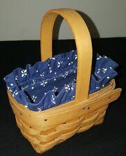 Longaberger 1995 Horizon of Hope Basket Blue Liner Protector Cancer Society
