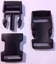2 Steckschnallen Steckschließe Gurtschnalle Schnalle Gurtverschluß schwarz  25mm