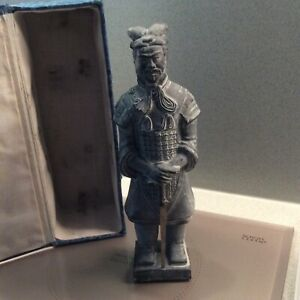 Boxed Vintage replica terracotta warrior .beautiful