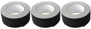 "(3) Rolls Rockville Pro Audio/Stage Wire ROCK GAFF Black Gaffers Tape 2""x100 Ft"