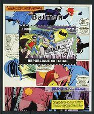Chad 2017 CTO Batman Robin 1v M/S Comics Superheroes Stamps