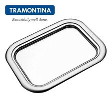 TRAMONTINA Rechteckig Tablett Serviertablett 50x38cm Rotonda Edelstahl 61275/500
