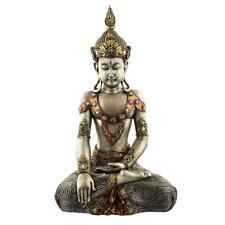 Silver Thai Buddha Figurine Sitting 45cm