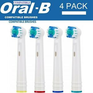 REPLACEMENT ELECTRIC TOOTHBRUSH HEADS COMPATIBLE WITH ORAL B BRAUN TOOTHBRUSH