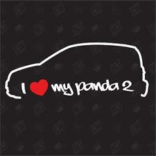 I love my Fiat Panda 2 - Tuning Pegatina Año.fab.03-12 Coche, Fan Tipo 169