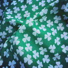 Shamrock Trèfle St Patricks Jour À faire soi-même Hair Bow Toile imprimée feuille tissu
