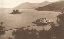 G0031 Greece - Corfu - Ponticonissi - Stampa antica del 1923 - Old Print