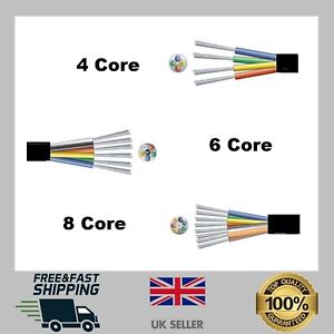 Alarm Cable 4/6/8 Core Black Burglar Detection Security Wire PVC Insulated CHEAP