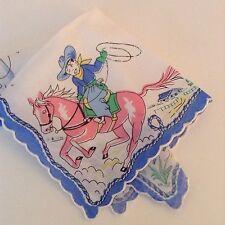 Darling New Cowboy Handkerchief ~ Yippee Ki Yay Child's Hankie!
