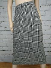 Vintage Straight Skirt Sz S Wool Blend Houndstooth Plaid Pencil Miss Jennie NZ .