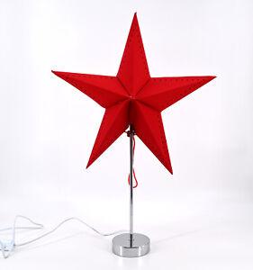 Weihnachtsstern Dekostern Fensterstern Stern rot Papierstern stehend E14 H 67cm