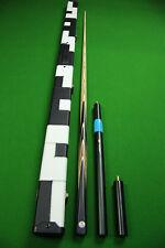 10.41mm Tip 1 piece 12 Faces Blood Wood+Black Ebony Handmade Snooker Cue Set