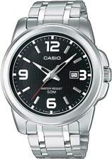 Casio Collection MTP-1314PD-1AVEF 43mm Cassa di Acciaio Argenta, Cinturino di Acciaio Argento, Orologio da Polso per Uomo