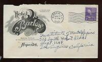 US Louisiana Illustrated Advertising Cover (Hotel Barlow, Hope, Ark) 1940 Minden