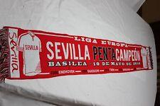 BUFANDA FUTBOL DEL SEVILLA F.C. COMO PENTACAMPEON LA UEFA EUROPA LEAGUE  SCARF