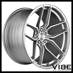 """20"""" STANCE SF03 SILVER FORGED CONCAVE WHEELS RIMS FITS FORD MUSTANG GT GT500"""
