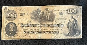 VIRGINIA Sep 1862 NOTE 100 HUNDRED Dollar CONFEDERATE STATES of AMERICA Richmond